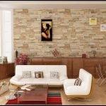 Бежевые стены в гостиной фото