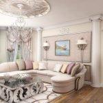 Мебель для бежевой гостиной дизайнерские идеи