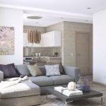 Дизайн интерьера в бежево-серых тонах фото
