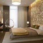 Оформление спальни в бежево-коричневых тонах