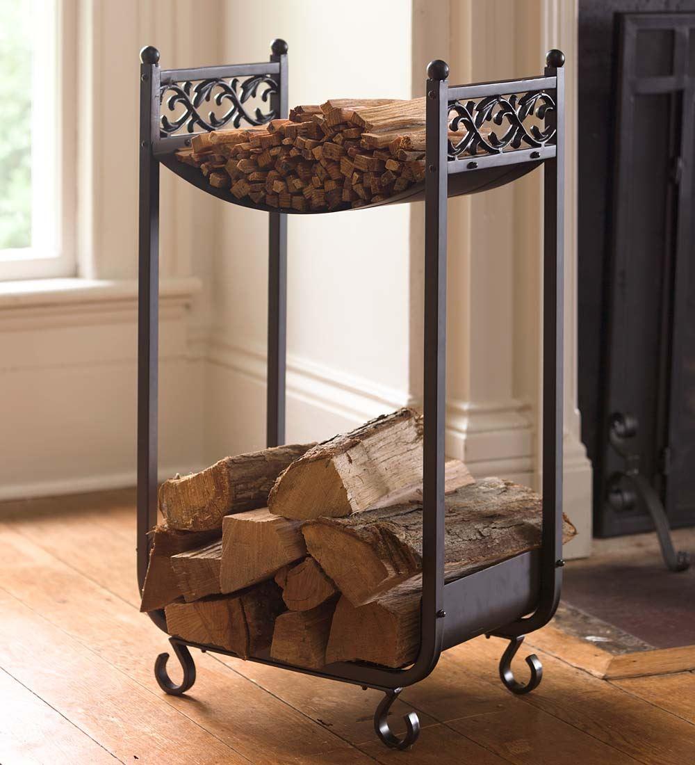 fireplace firewood rack - 735×809