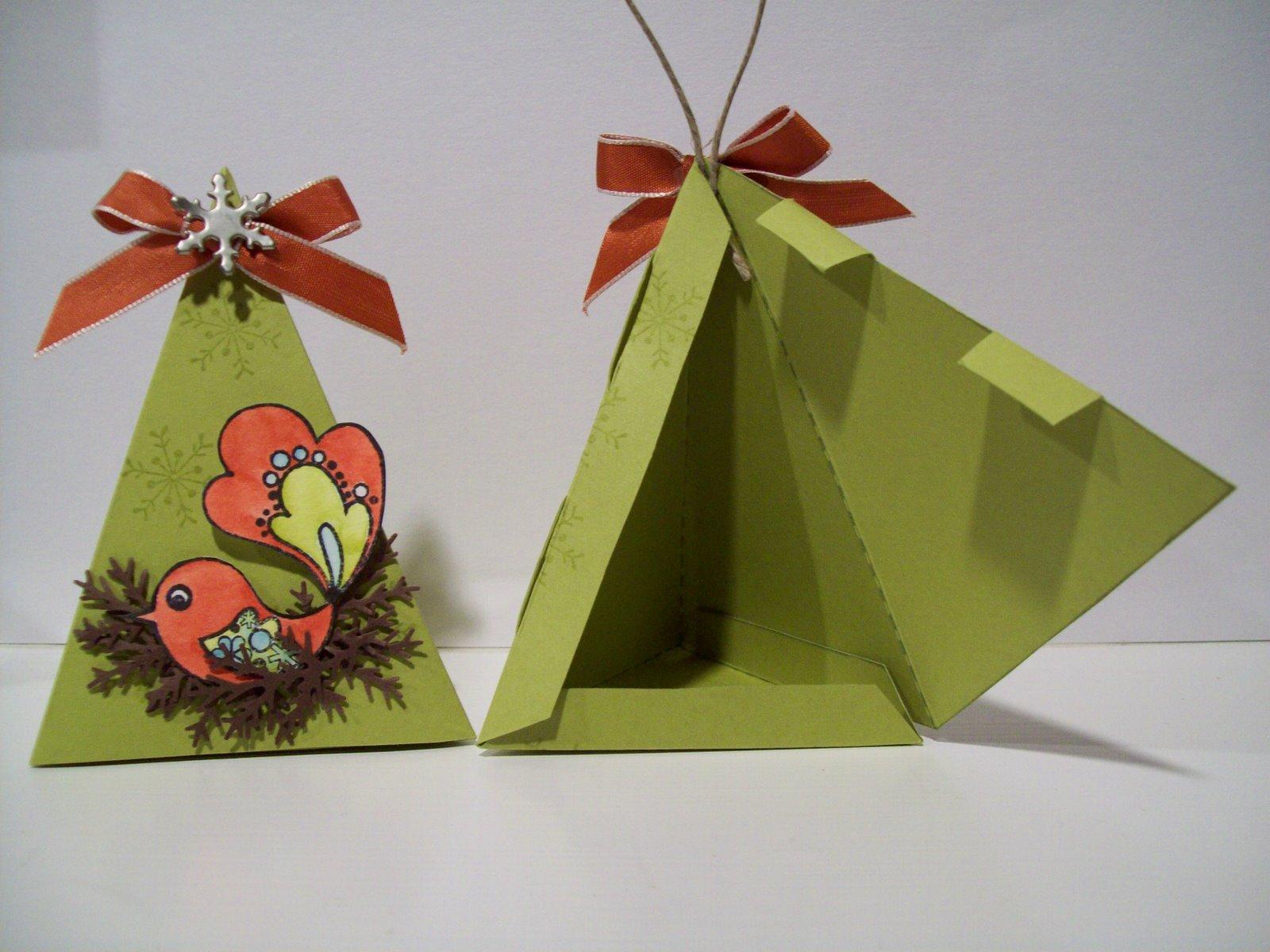Новогодние коробочки из картона