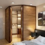 Дизайн гардеробной в интерьере спальни