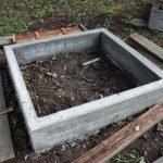 Изготовление грядок из бетона: шаг 3