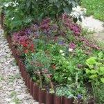 Пластиковые грядки с цветами