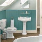 Отделка стен туалета краской идеи