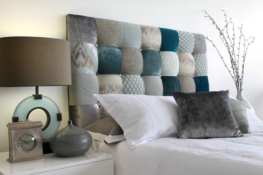Кровать с текстильным изголовьем