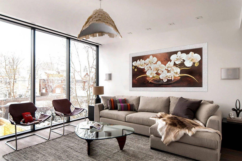 фото, картина для зала над диваном привычке просматривая