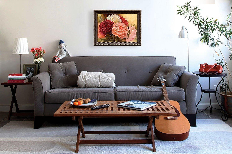 Картина с цветами в интерьере