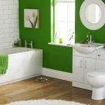 покраска стен в зеленый цвет в ванной комнате