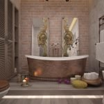 Использование венецианской штукатурки для отделки стен в ванной