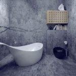 Применение декоративной штукатурки для стен в ванной комнате