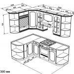 Проект маленькой угловой кухни