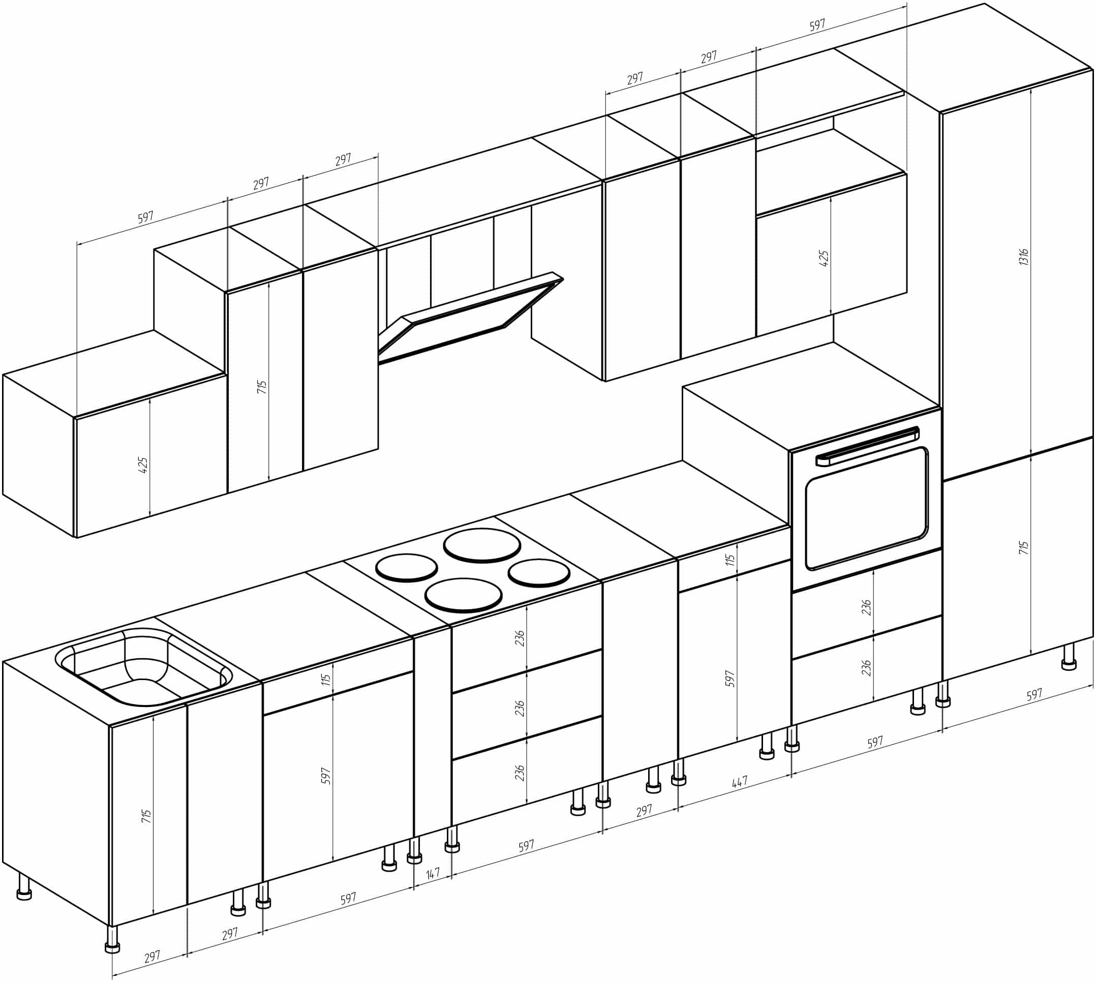 Кухни картинки и чертежи