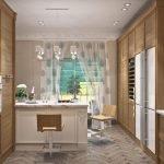3D- визуализация кухни в классическом стиле