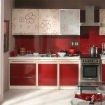 3D- визуализация красной кухни