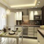 Кухня в хрущевке освещение фото
