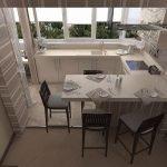 Кухня в хрущевке с балконом как сделать