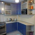 Кухня угловая синяя