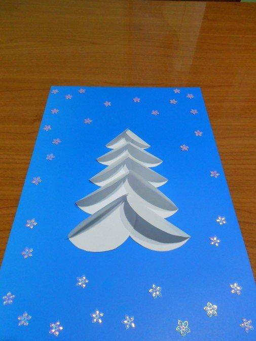 Девочку летием, аппликация новогодняя открытка средняя группа