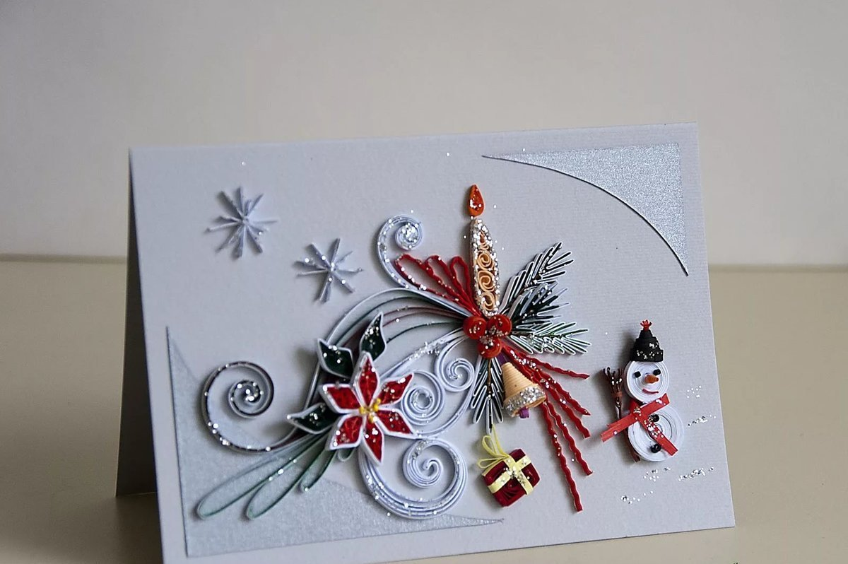Новогодние открытки из квиллинга фото, открытка татьяниным