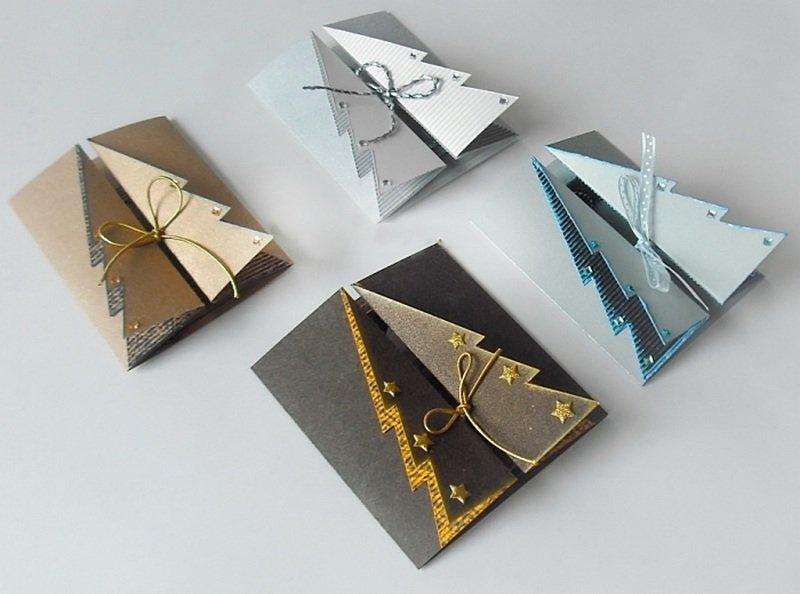 Многослойные новогодние открытки