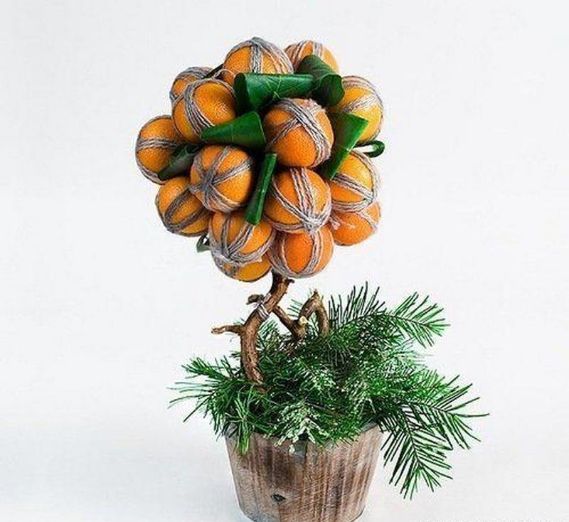 Топиарий из мандарин