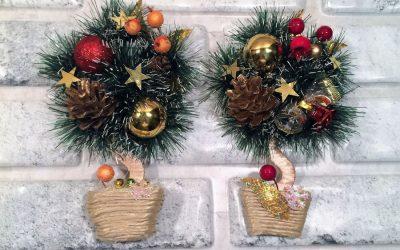 Новогодний топиарий своими руками: украшение дома к празднику