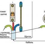 Схема освещения гаража