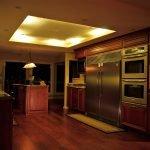 Теплая подсветка кухни