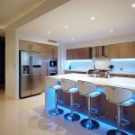 Неоновое освещение кухни