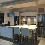 Точечное освещение небольшой кухни