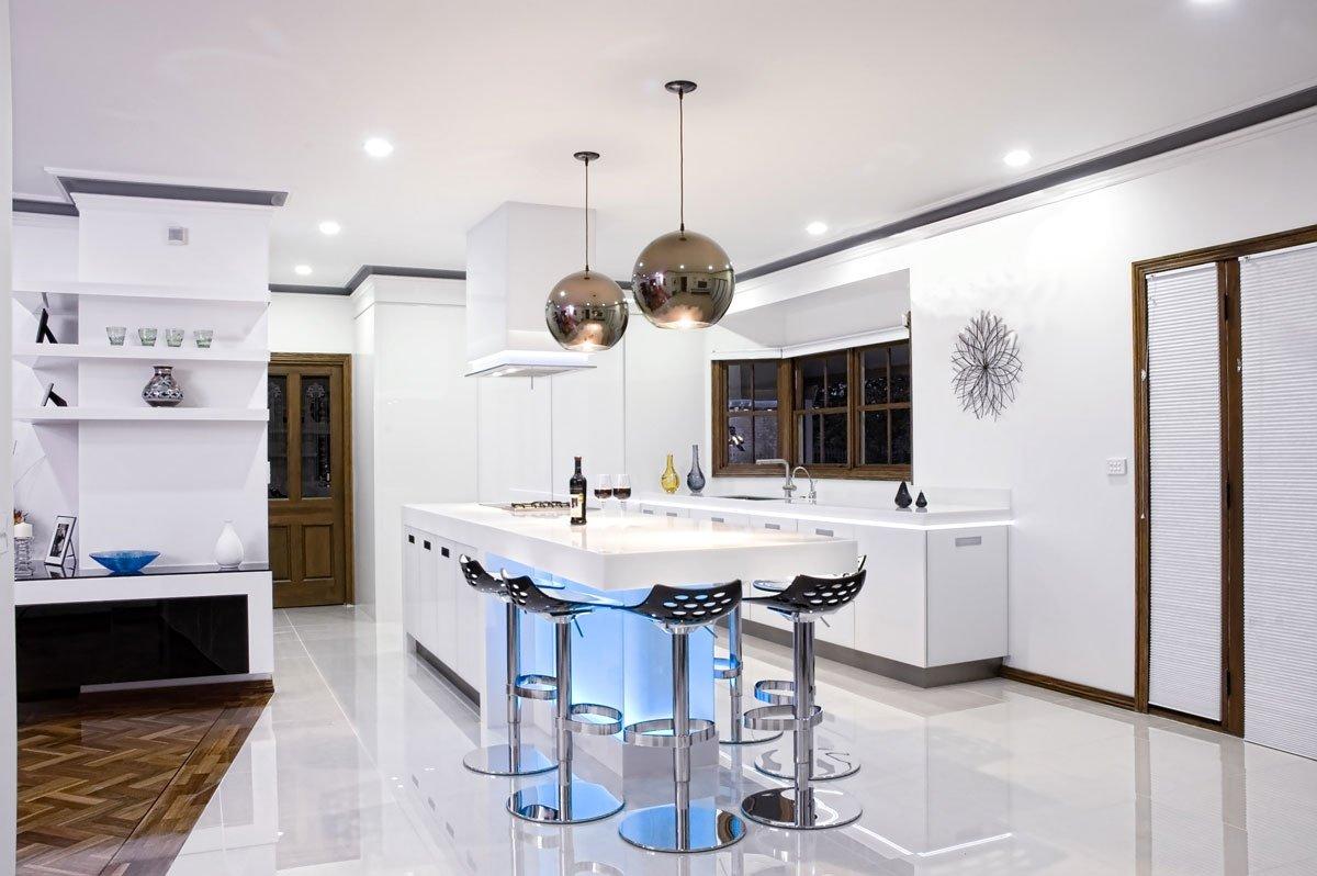 Освещение в стиль кухни