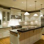 Теплое освещение кухни