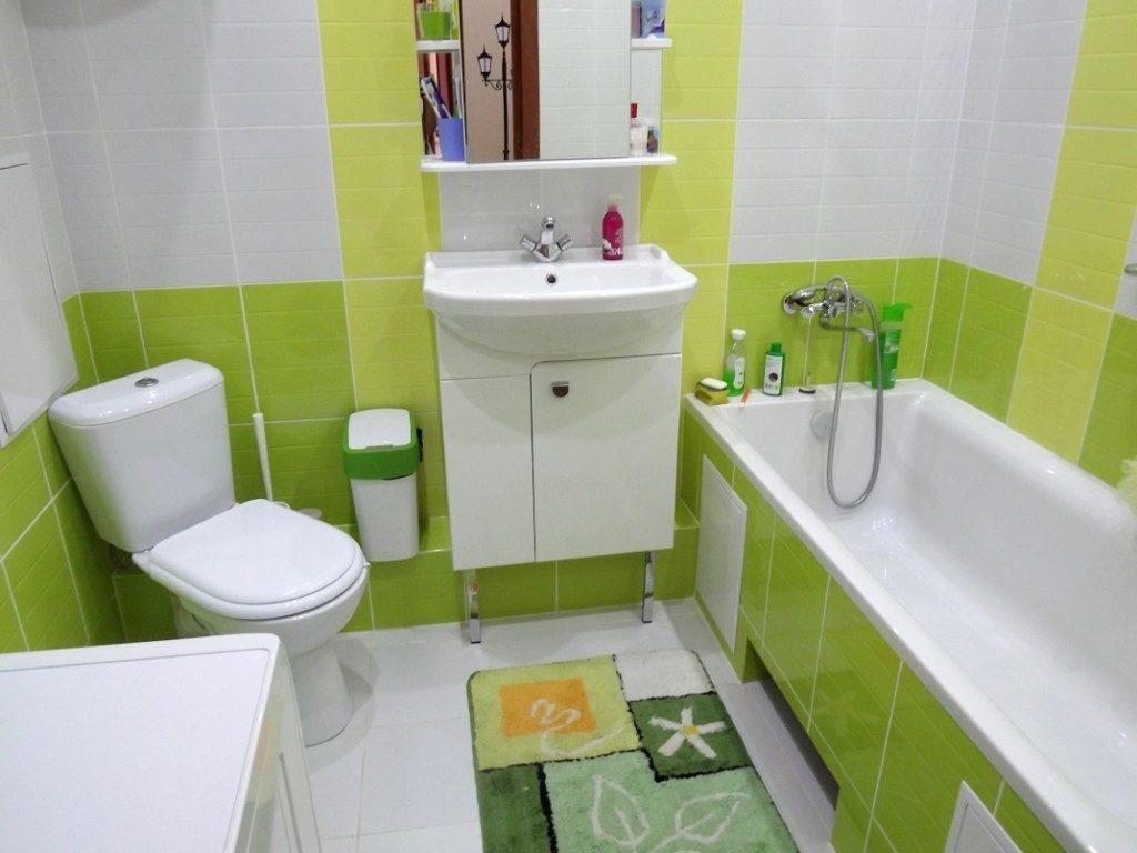 туалет в зеленых тонах