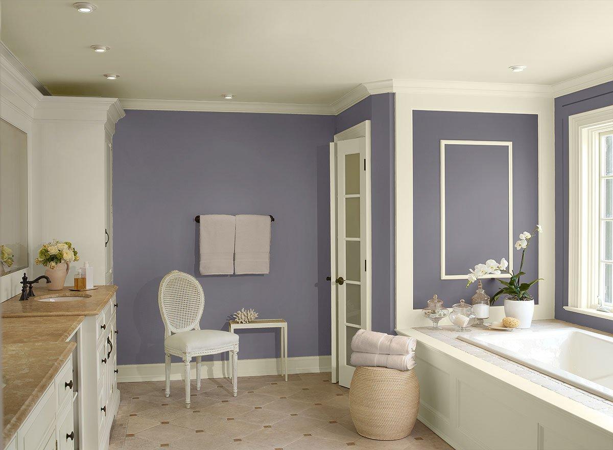 Светло сиреневая краска для стен