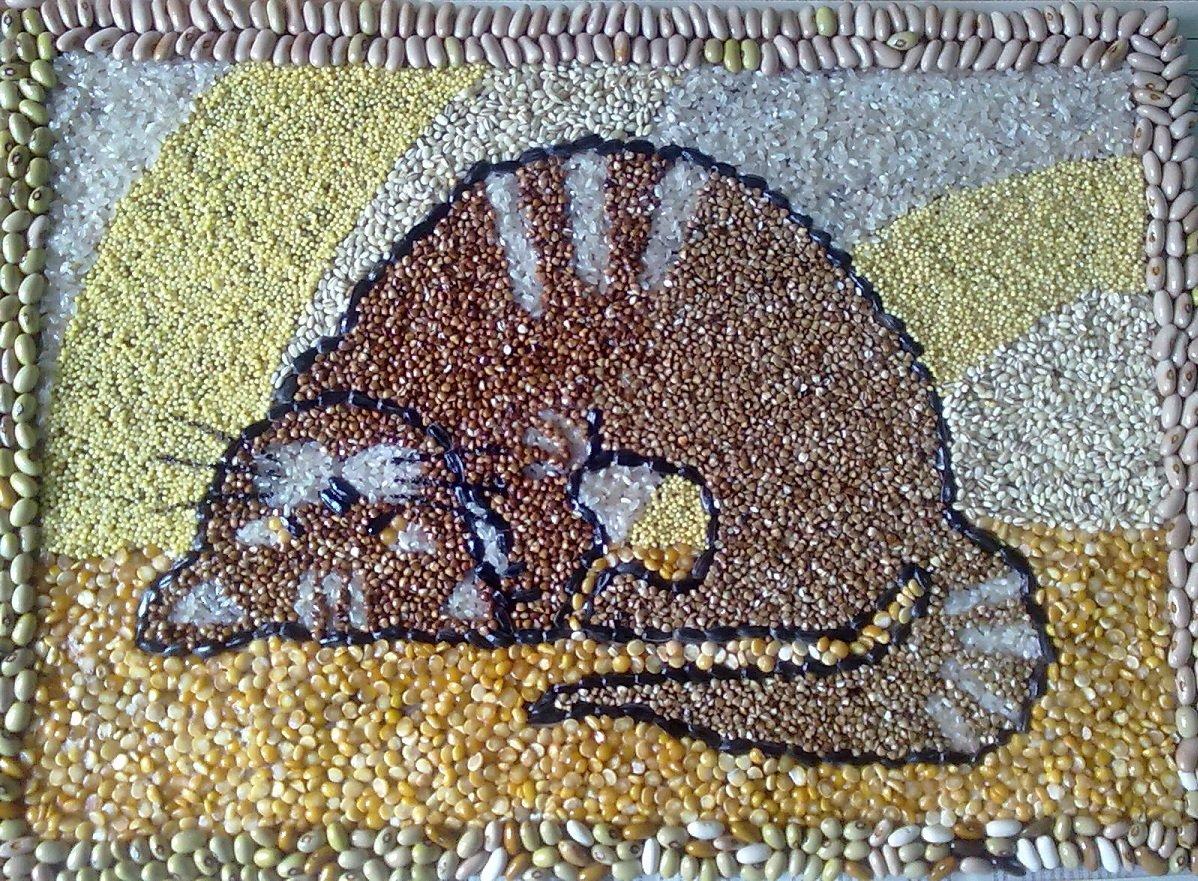 Картина из семян