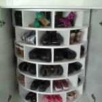 Круглая тумба для обуви