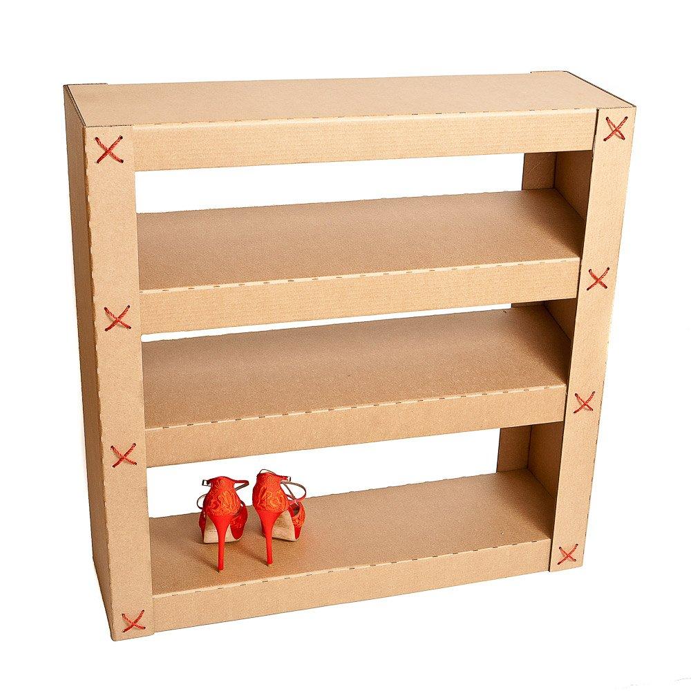 Как сделать полку для обуви своими руками из коробки фото 157