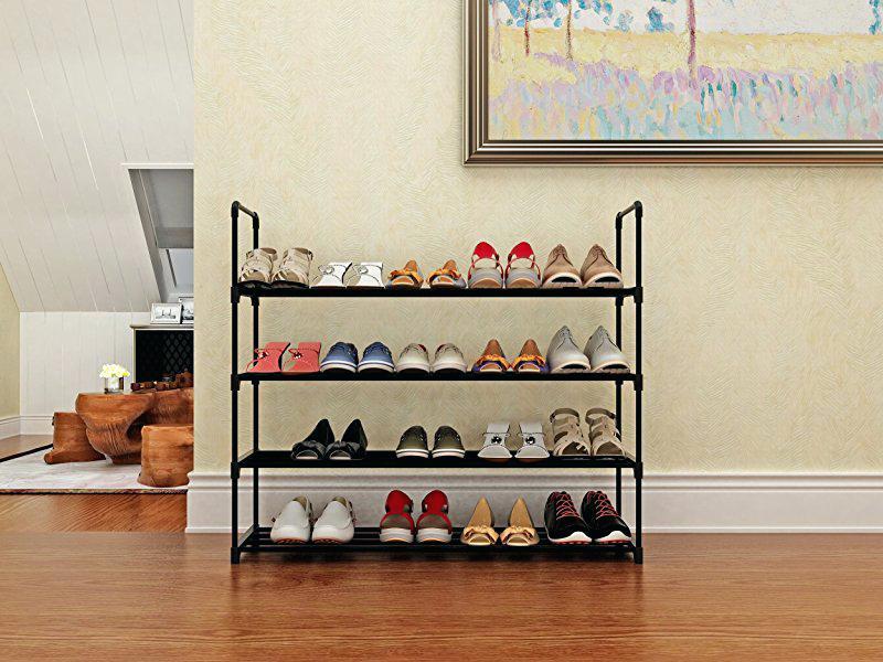 Металлическая полка для обуви