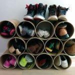 Полка для обуви из труб