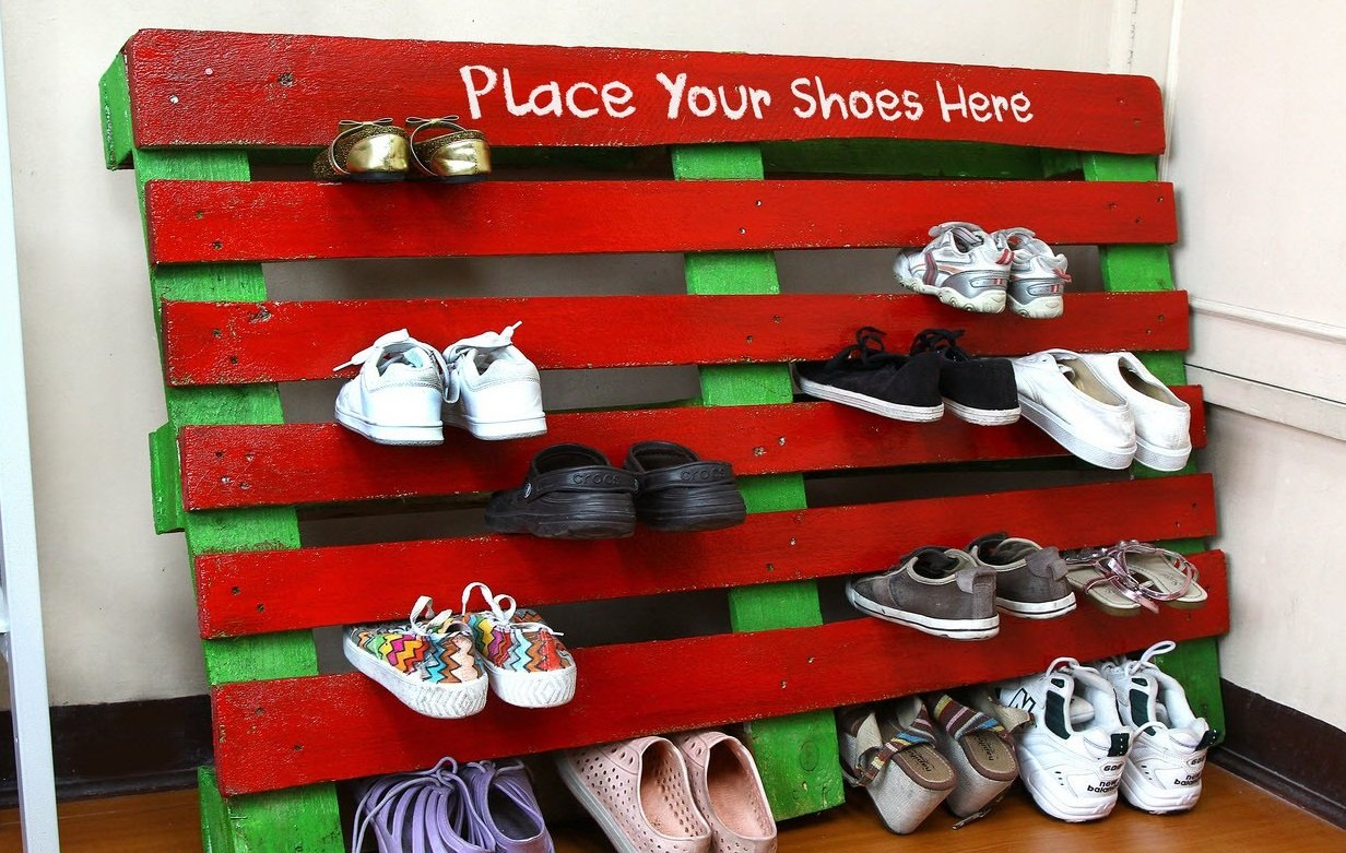 Полка для обуви из поддона