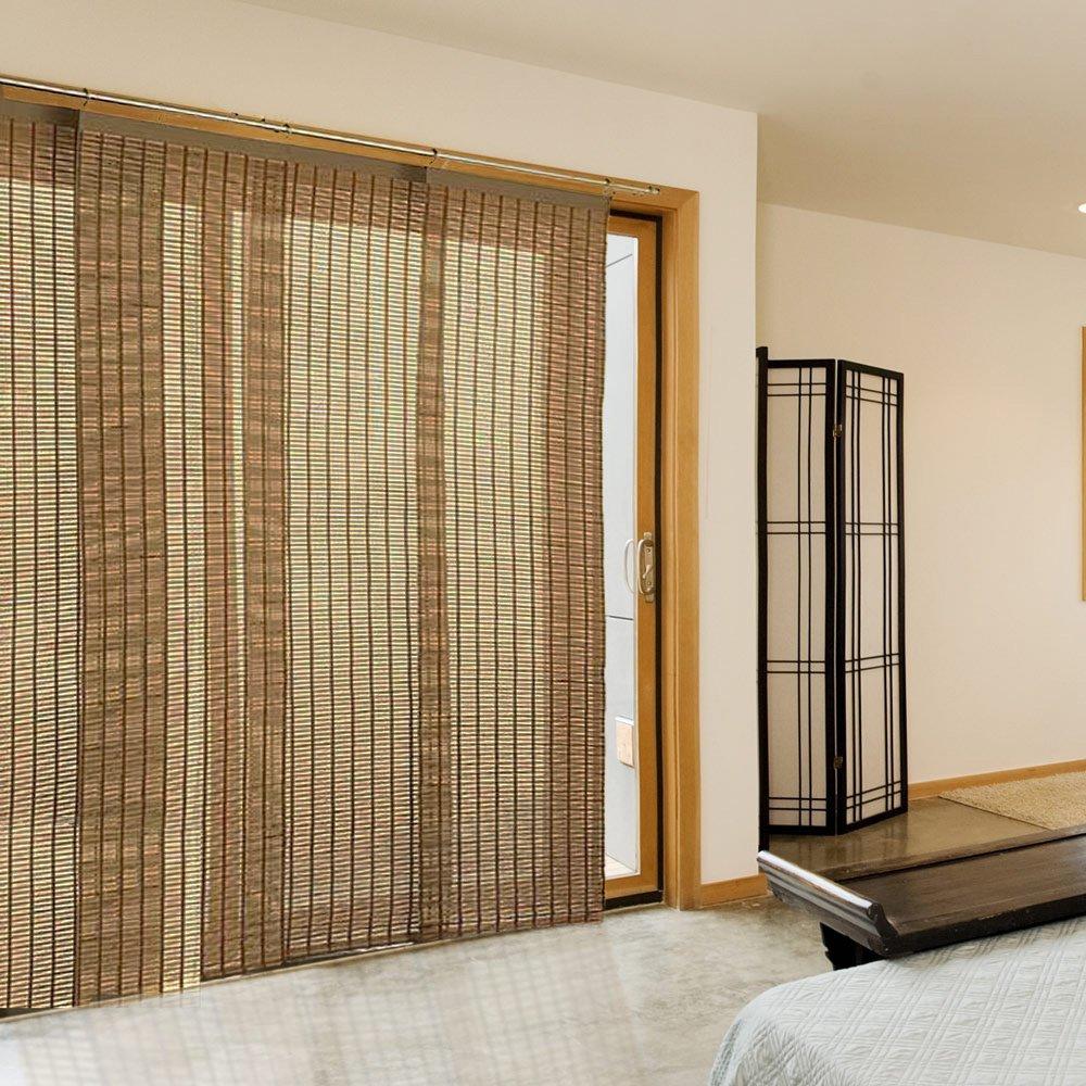 Шторы из бамбука на двери