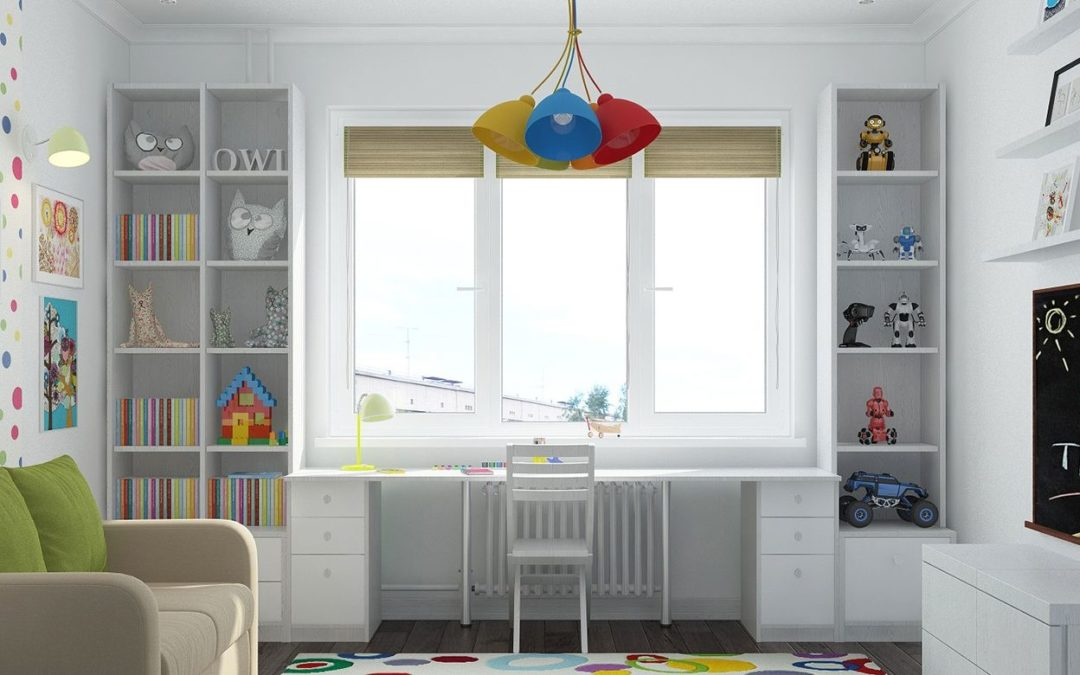 Стол-подоконник в детской
