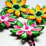 Цветочки для заколочек