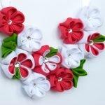 Нежные цветочки канзаши
