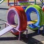 Подвесной мост для детской площадки