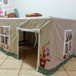 Создаем домик для игр под столом