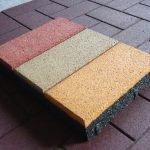 Тротуарная плитка с резиновым наполнителем