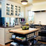 Кухня с островом в современном интерьере